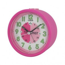 Lorus Time Teacher Beep Alarm Clock - Pink (LHE034P)