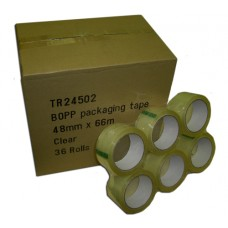 Clear Low Noise Packing Tape 48mm x 66m Pack Of 36 Rolls