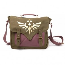 Nintendo Legend of Zelda Skyward Sword Golden Royal Crest Canvas Messenger Bag - One Size - Green/Mauve (MB060223NTN)