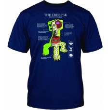 Minecraft Creeper Anatomy T-Shirt - 12/14 Years Kids Size