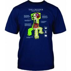 Minecraft Creeper Anatomy T-Shirt - 9/11 Years Kids Size