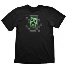 Minecraft Creeper Inside Medium T-Shirt  Black (GE1145M)