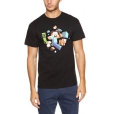 Plastic Head Minecraft Runaway Men's T-Shirt - Medium Size