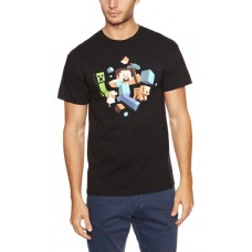 Plastic Head Minecraft Runaway Men's T-Shirt - Small Size