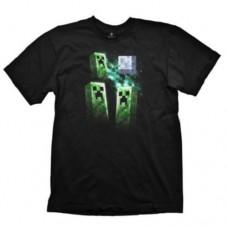 Minecraft Three Creeper Moon Small T-Shirt  Black (GE1143S)