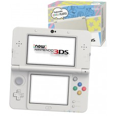 New Nintendo 3DS Console White with Replaceable Cover Plates and NFC Function