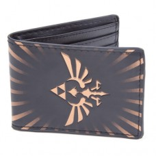 Nintendo Legend of Zelda Gold Link Logo Bi-Fold Wallet, Black/Gold (MW1PX8ZSS)