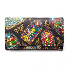 NINTENDO Legend of Zelda WindWaker HD Tri-Fold Purse Wallet Black (GW1UDJZWW)