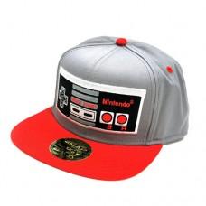 Nintendo Original Embroided Nes Controller Baseball Cap One Size Silver/Red