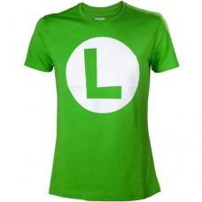 Nintendo Super Mario Bros. Big Luigi Logo Mens T-Shirt L Green  TS313154NTN-L