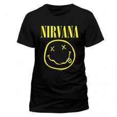 NIRVANA Smiley T-Shirt Unisex Extra Large Black (RTNIR01105)