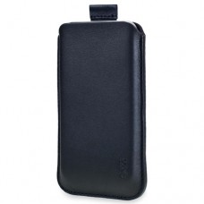 SOX Classic Leather Strap Mobile Phone Pouch for iPhone/Samsung and more, Large, Black (SOX KCLS 01L)
