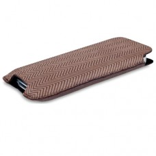 SOX Retro Light Leather/Suede Mobile Phone Pouch for iPhone/Samsung and more, Large, Brown (SOX KRETR 02L)