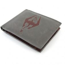 THE ELDER SCROLLS Skyrim Dragonborn Faux Leather Wallet, Grey/Red (GE2066)