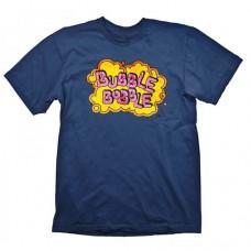BUBBLE BOBBLE Vintage Logo Small T-Shirt, Blue (GE1657S)