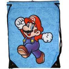 NINTENDO SUPER MARIO BROS. Mario Gym Bag, Blue (CI179765NTN)