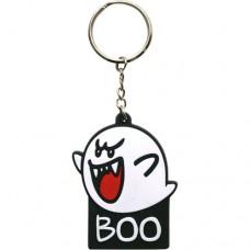 NINTENDO SUPER MARIO BROS. Boo Rubber Keychain (KE002569NTN)