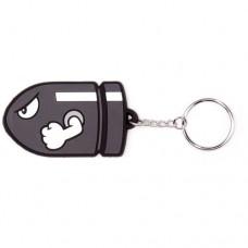 NINTENDO SUPER MARIO BROS. Bullet Bill Rubber Keychain (KE141762NTN)