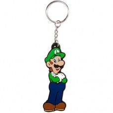 NINTENDO SUPER MARIO BROS. Luigi Rubber Keychain (KE152507NTN)