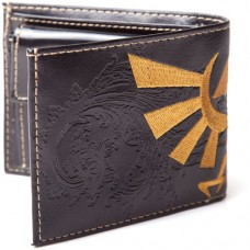 NINTENDO LEGEND OF ZELDA Bi-fold Wallet with Bird Logo, Black (LW121934NTN)