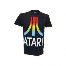 ATARI Colour Gradient Logo Medium T-Shirt, Black (TS800111ATA-M)