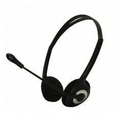 APPROX Stereo Light Adjustable Stereo Headset with Built-in Microphone, Black (APPHSEB)