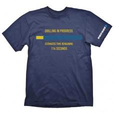 PAYDAY 2 Mens Drilling in Progress Medium T-Shirt Blue (GE1725M)