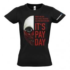PAYDAY 2 Womens Wolf Mask Medium T-Shirt Black (GE1739M)