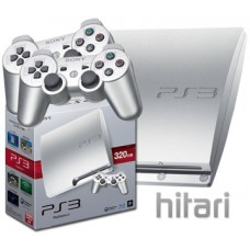 PlayStation 3 Slim Console 320GB PS3 Silver Includes 2 Dualshock 3 Controllers