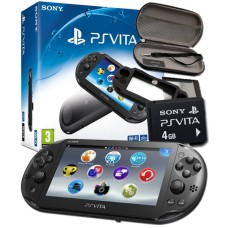 PlayStation Vita Wi-Fi Console with 4GB Memory Card and Protective Accessory Pack - PS Vita