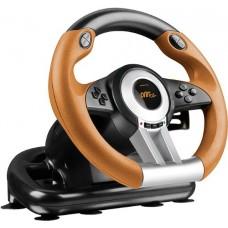 SPEEDLINK Drift O.Z. Racing Wheel for PC/PS3, Black/Orange (SL-4495-BKOR)