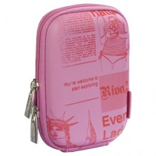 Rivercase Riva 7103 PU Digital Camera Case -  Pink/Newspaper