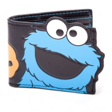Sesame Street Cookie Monster Bi-Fold Wallet Black/Blue Model. MW161263SES