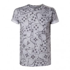 SONY PlayStation One Controller All-Over Sublimation T-Shirt Small Grey (TS240002SNY-S)