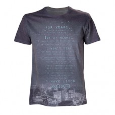 Sony Playstation Adult Male Skyscraper Skyline....I Have Lived Sublimation T-Shirt, Small, Multi-Colour (Model No. TS088706SNY-S)