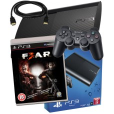 Sony PS3 12GB Console + HDMI Cable + FEAR 3 F.E.A.R 3 PS3 Bundle