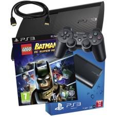 Sony PS3 12GB Console + HDMI Cable + Lego Batman 2 DC Super Heroes PS3 Bundle