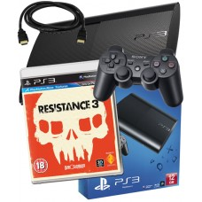 Sony PS3 12GB Console + HDMI Cable + Resistance 3 PS3 Bundle