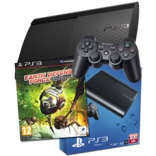 PS3 500GB UK Black Console + Earth Defence Force Insect Armageddon