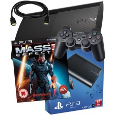 Sony PS3 12GB Console + HDMI Cable + Mass Effect 3 PS3 Bundle