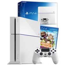PS4 Console White with LittleBigPlanet PS4 Game bundle