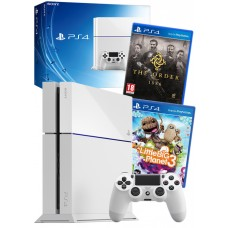 Sony PS4 White Console with Order 1886 and Littlebigplanet 3 Games Bundle