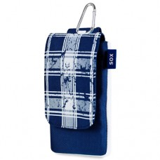 SOX Checked Life Style Mobile Phone Bag for iPhone/Samsung and more, Tatty Navy Blue (SOX KCHD 02)