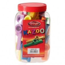Stagg Kazoo Assorted Colours- Pack of 30 (Model No. Stagg KAZOO30)