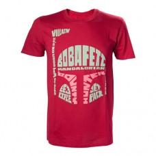 Star Wars Mens Boba Fett Word Play T-Shirt X-Large Red Model. TS110619STW-XL