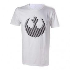 Star Wars Mens Rebel Logo T-Shirt Large White Model. TS504390STW-L