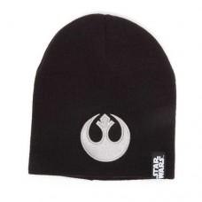 Star Wars Embossed Rebel Logo Beanie One Size Black/Silver Model No KC072701STW