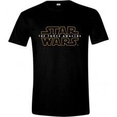 Star Wars VII Mens The Force Awakens Main Logo T-Shirt M Black CD103STW-M