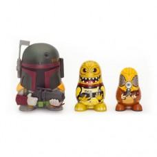 Star Wars Chubby Boba Fett/ Bossk/ Zuckuss Bounty Hunter Russian Figurines Set Collectable