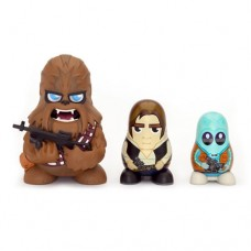 Star Wars Chubby Chewbacca/ Han Solo/ Greedo Mos Eisley Cantina Russian Figurines Set Collectable